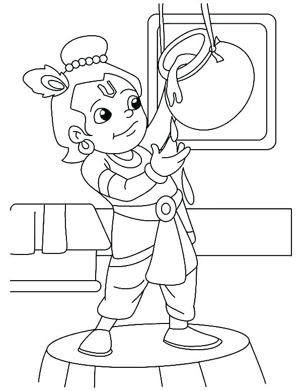 600x776 Little Krishna Coloring Pages Coloring Page Iskcon Krishna