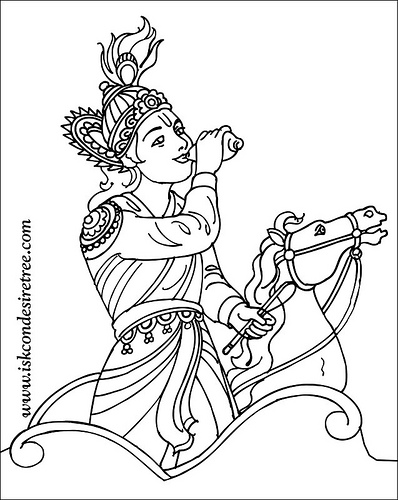 398x500 Baby Krishna Coloring Pages