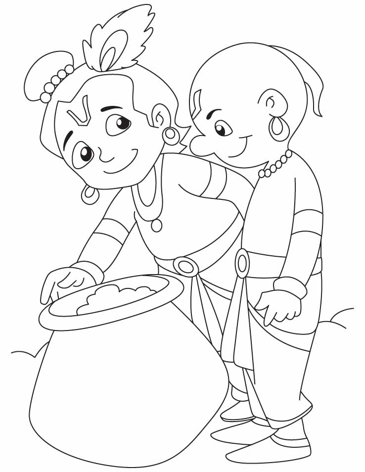 738x954 Lord Krishna Coloring Pages