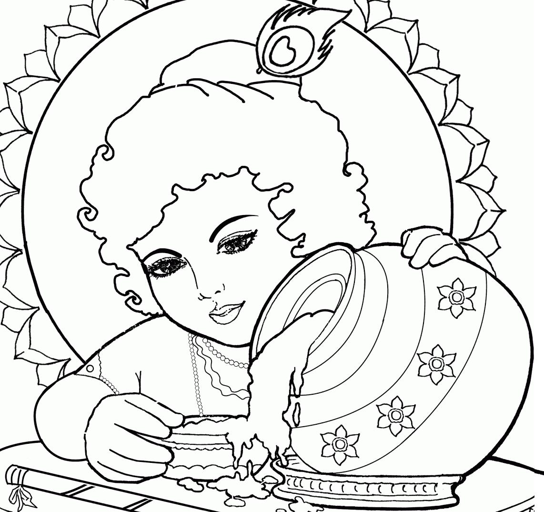 1142x1074 Photos Krishna Image Drawing Wallpaper