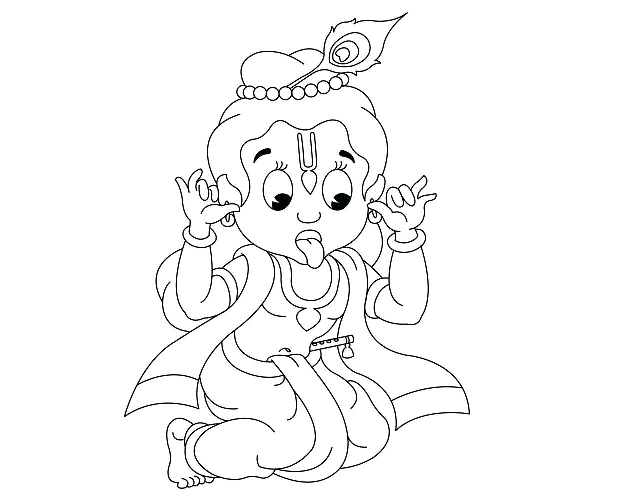1237x1007 Radha Watching Krishna Play Her A Song With Flute Coloring Pages