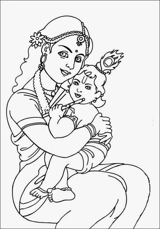 558x800 Colours Drawing Wallpaper Lord Baby Krishna Colour Drawing Hd