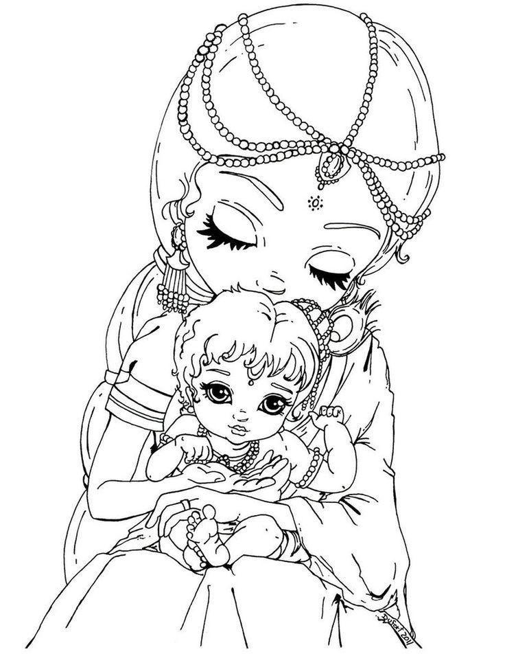 736x952 Krishna Coloring