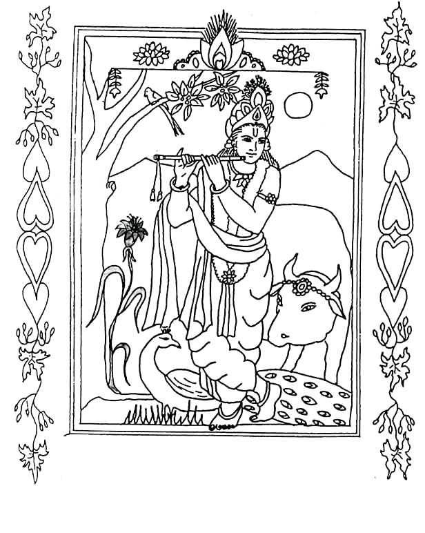 616x772 Baby Krishna Coloring Pages Google Search Adult