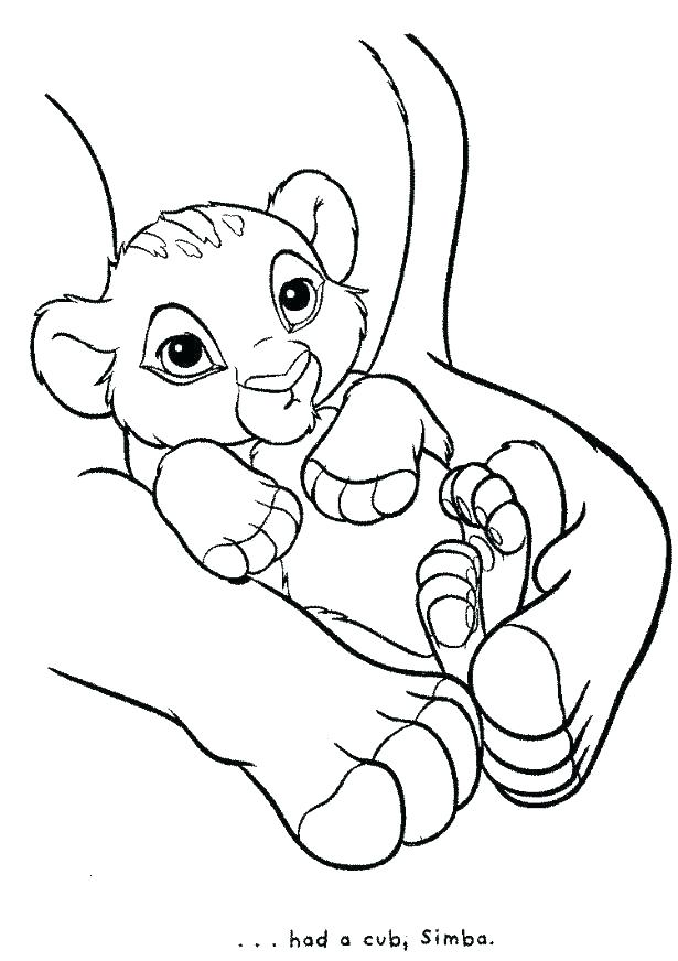 615x872 Coloring Pictures Of Lions Coloring Pages Lions Baby Lion Coloring