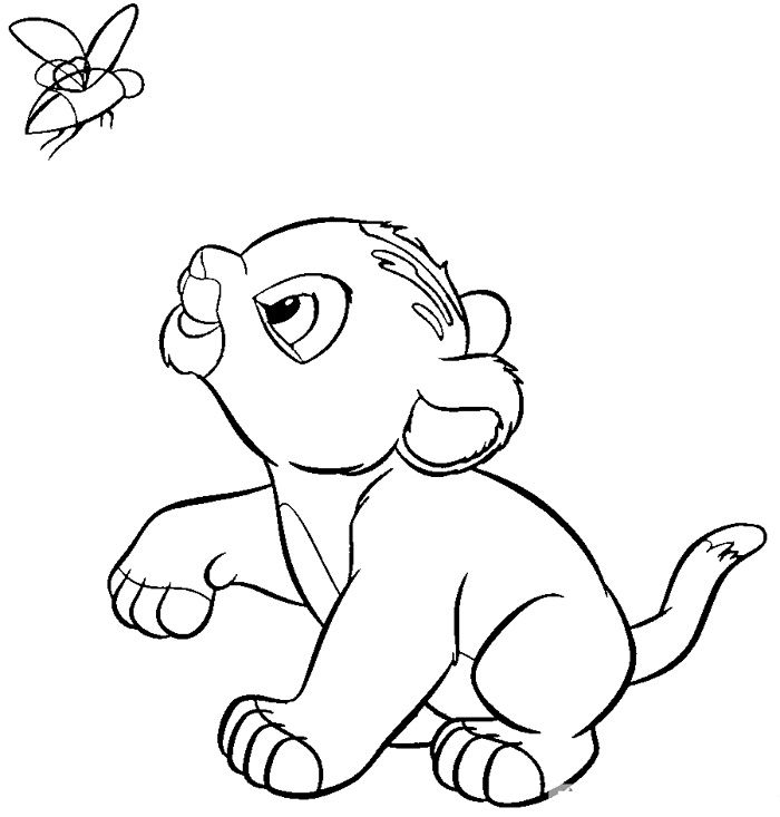 700x733 Baby Lion Coloring Pages