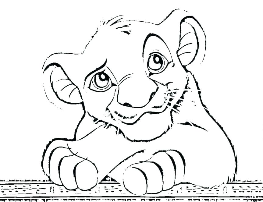 863x663 Free Printable Lion Coloring Pages Baby Lion Coloring Pages