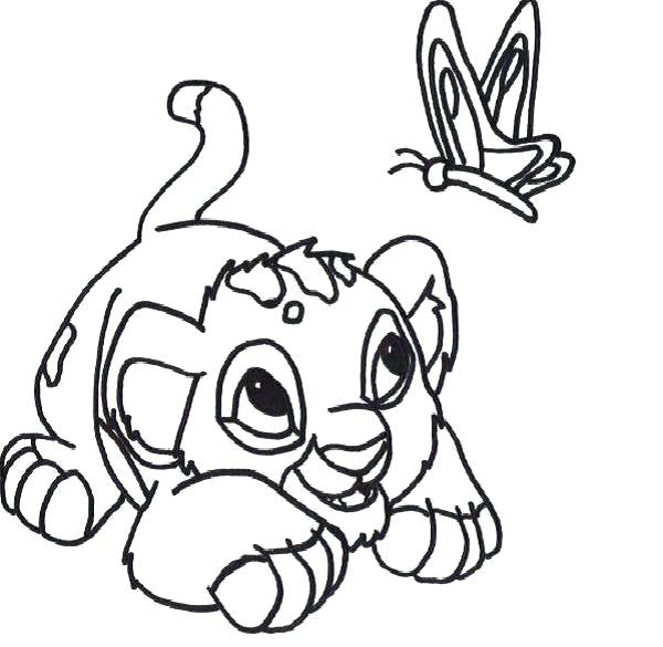 600x585 Baby Lion Coloring Pages Baby Lion Coloring Pages Click To See