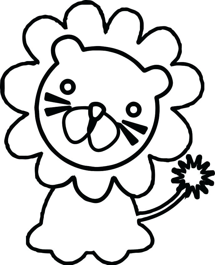 687x846 Marvellous Baby Lion Coloring Pages Zoo Animal Coloring Page Zoo