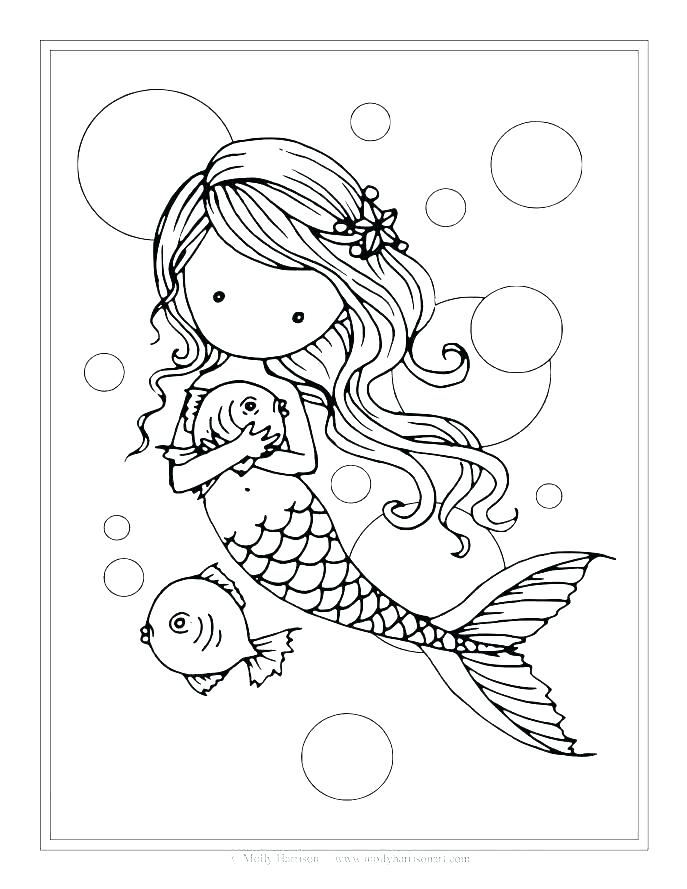 687x889 Little Mermaid Coloring Page Baby Little Mermaid Coloring Mermaid