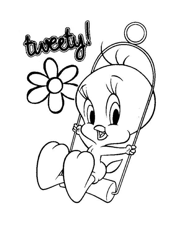600x780 Baby Looney Tunes, Cute Tweety In Baby Looney Tunes Coloring