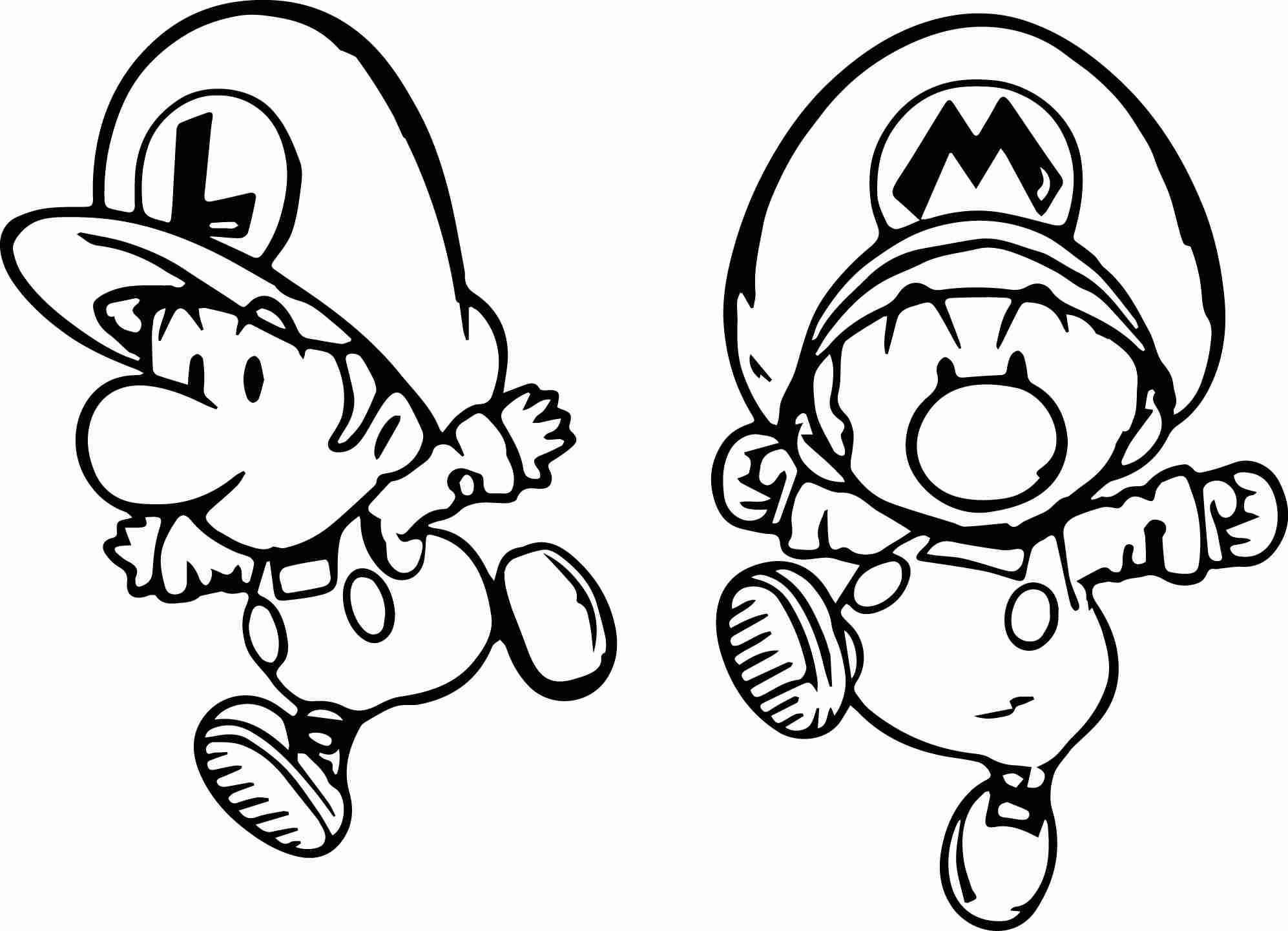 Baby Mario And Baby Luigi Coloring Pages at GetDrawings ...