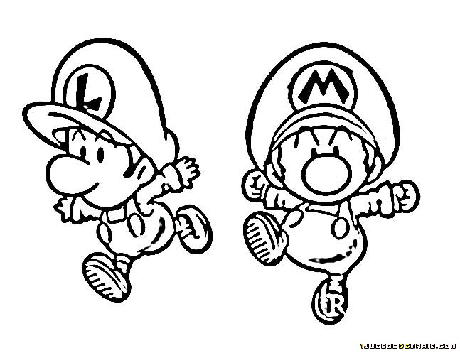 Baby Mario And Baby Luigi Coloring Pages At Getdrawings Com Free