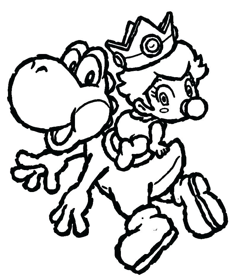 Baby Mario Coloring Pages At Getdrawings Free Download