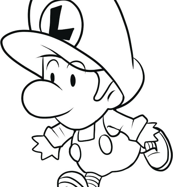Baby Mario Coloring Pages at GetDrawings | Free download