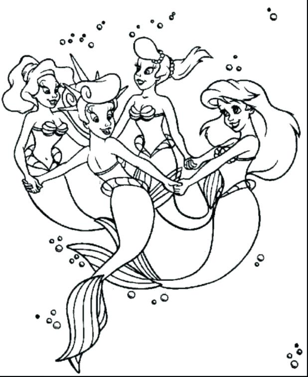 Baby Mermaid Coloring Pages At Getdrawings Com Free For Personal