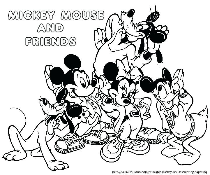 721x600 Mickey And Friends Coloring Pages