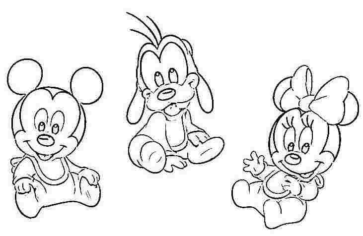 Baby Mickey And Minnie Mouse Coloring Pages At Getdrawings Com