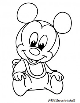 262x338 Baby Mickey Mouse Coloring Pages To Print Printable Disney Babies