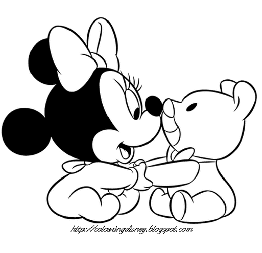 513x495 Disney Coloring Pages Coloring Pages Of Baby Mickey, Baby Minnie