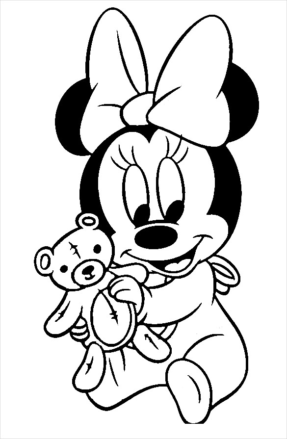 585x895 Baby Mickey Mouse Coloring Pages Mickey Mouse Coloring Page