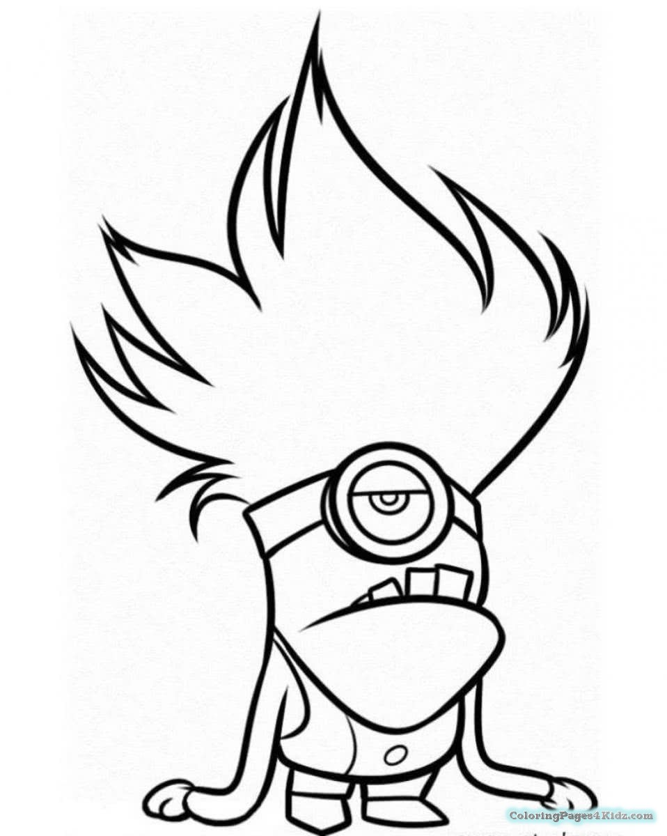 958x1200 Coloring Pages Of Minions Baby Kevin Coloring Pages For Kids