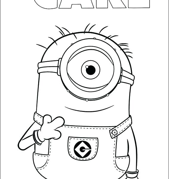 567x600 Minion Pictures To Colour As Well As Inspirational Minion Coloring