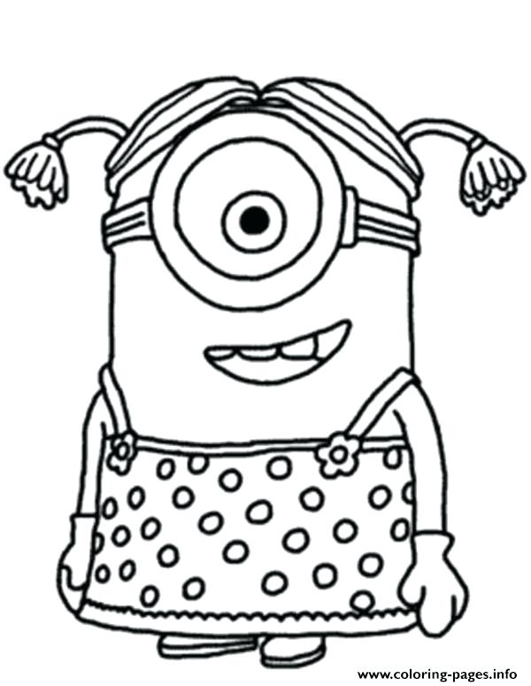 600x775 Minion Pictures To Colour Together With Minion Coloring Games