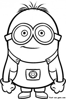 226x338 Printable Despicable Me Minions Printable Coloring Pages