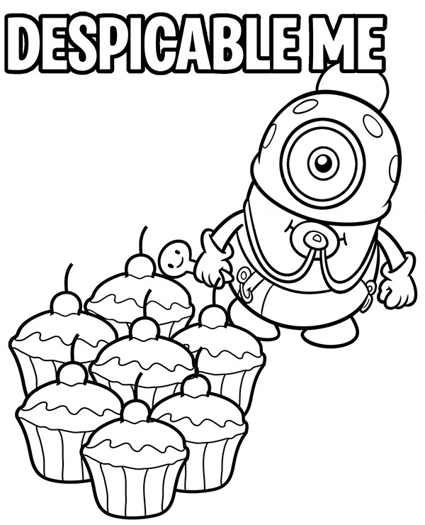 600x740 Baby Minion Coloring Page From Despicable Me Movie