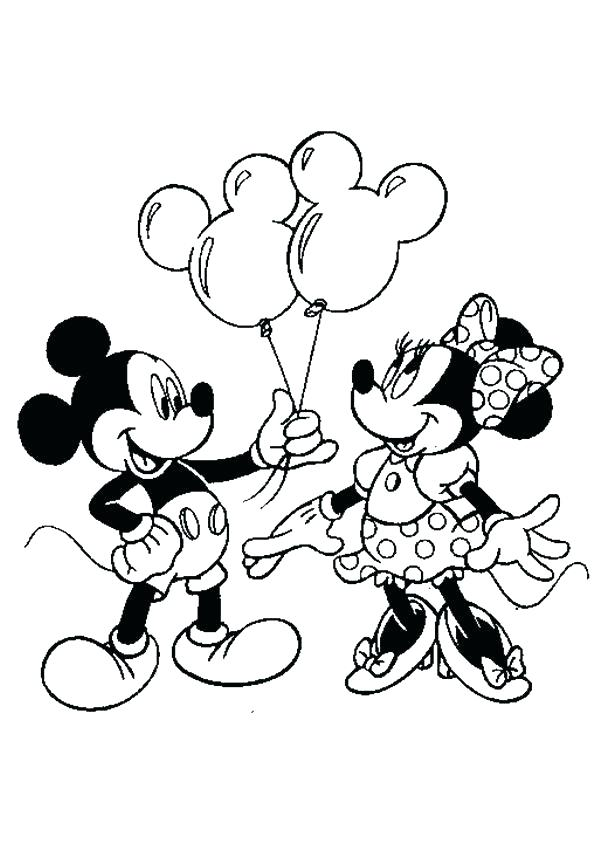 595x842 Minnie Mouse Pictures To Color With Delectable Mickey Mouse