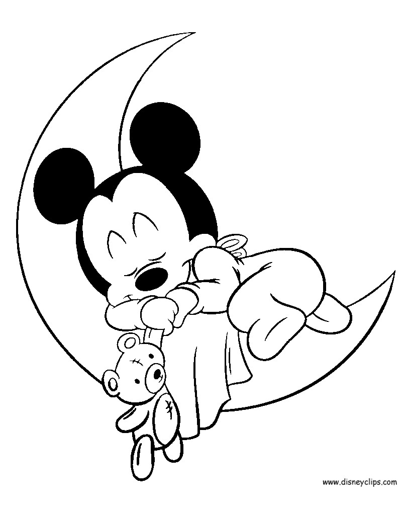 Gratis Kleurplaten Minnie Mouse.Baby Minnie Mouse Coloring Pages At Getdrawings Com Free For