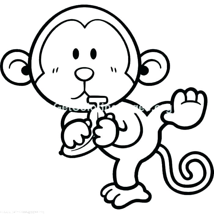 700x700 Monkey Coloring Pages Printable Printable Monkey Colouring