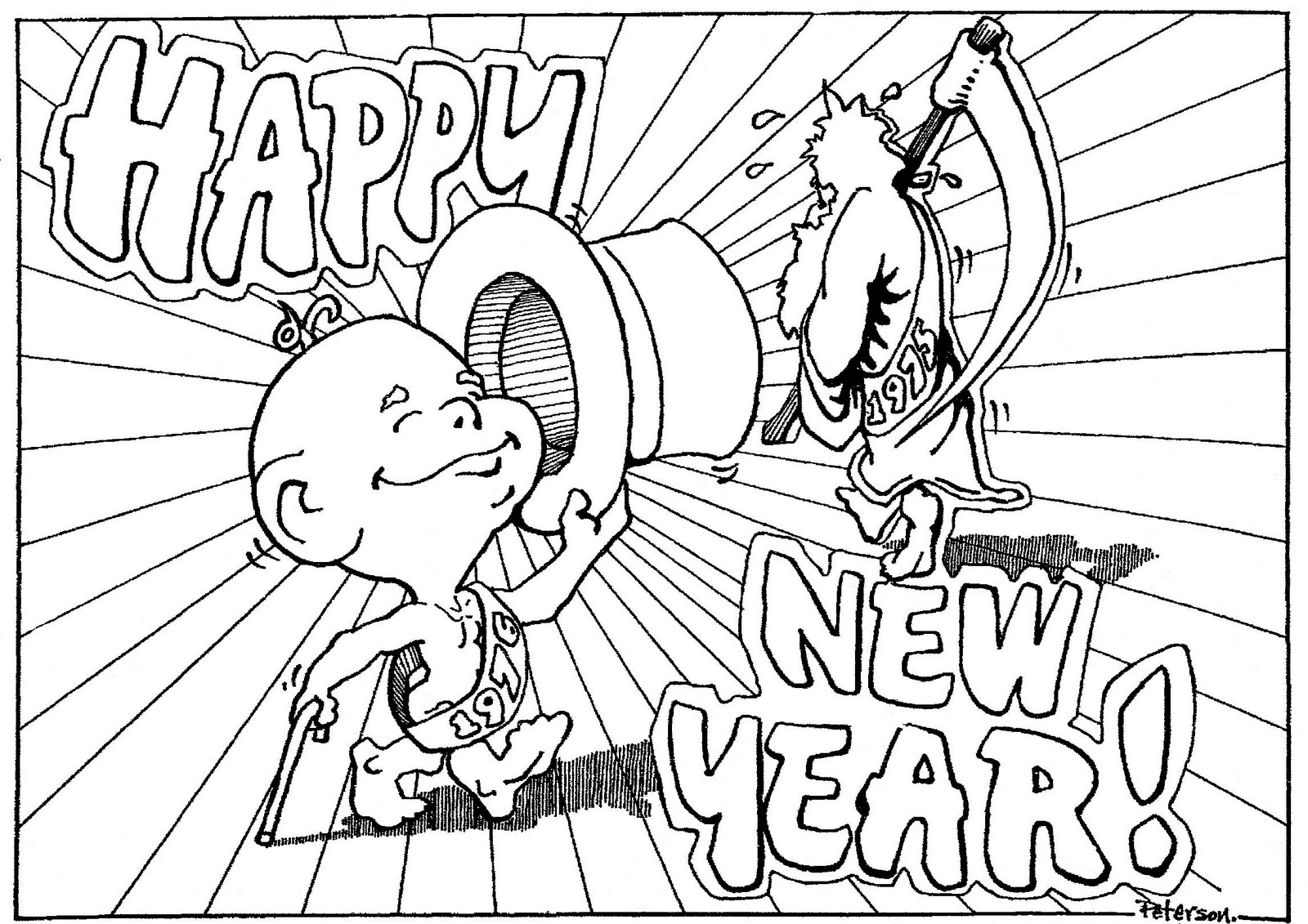 1600x1131 Mostly Paper Dolls New Year Coloring Contest