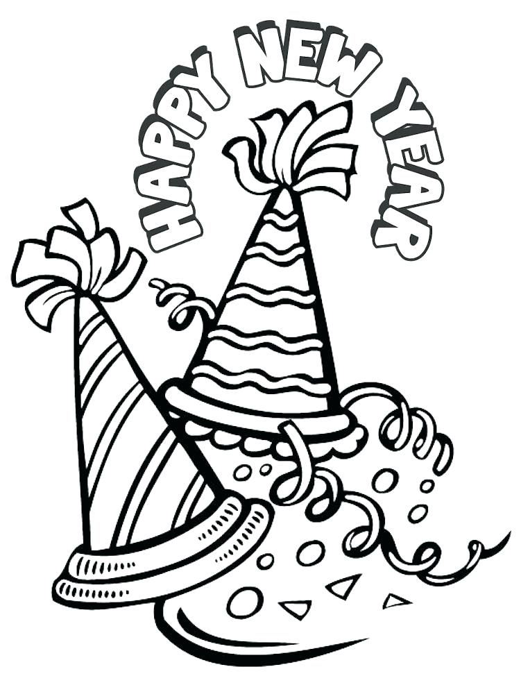 751x987 New Year S Day Coloring Pages Baby Page Throughout Years Eve