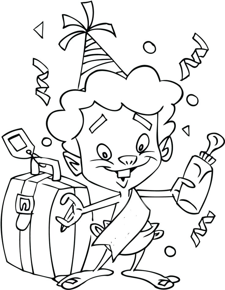 736x951 New Years Bag Of Fun Coloring Page A Bag Of Coins Coloring Pages
