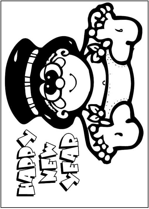 508x710 Baby New Year Coloring Pages Top Coloring Pages