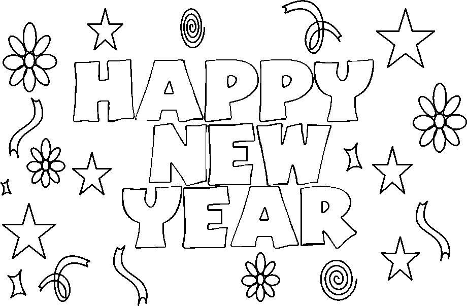 920x603 New Years Coloring Page
