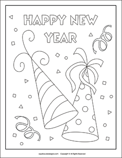 250x323 New Years Coloring Pages