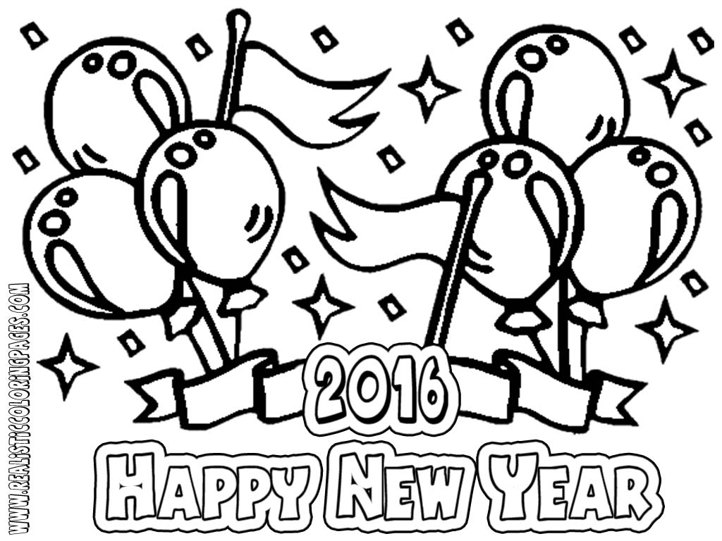 1024x768 Printable Happy New Year Fireworks Coloring Pages Inside Years