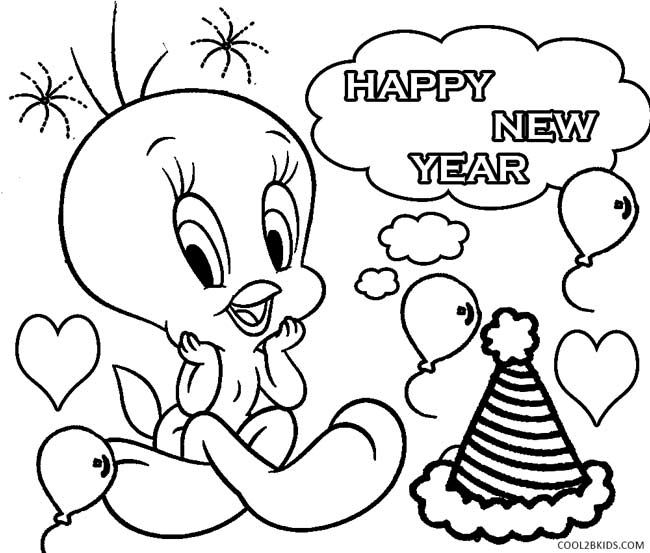 650x553 Printable New Years Coloring Pages For Kids Baby