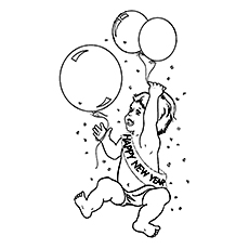 230x230 Top New Year Coloring Pages For Toddlers