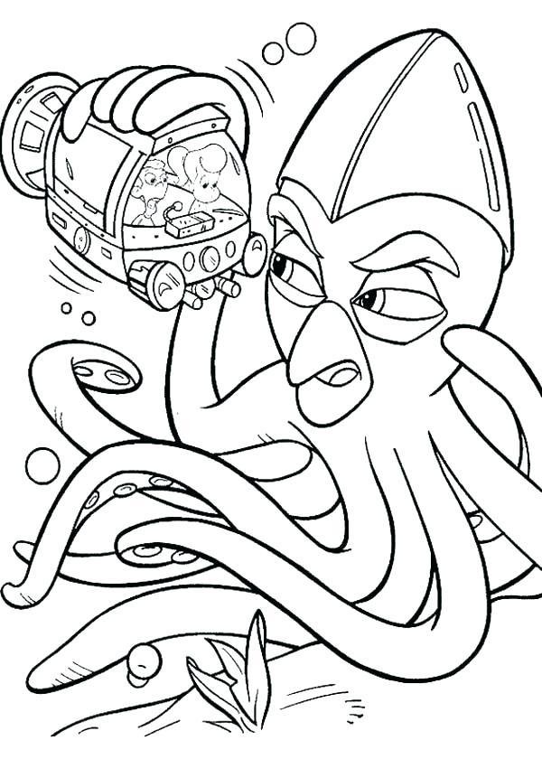 600x840 Octopus Coloring Page Octopus For Coloring Jimmy Neutron Meet