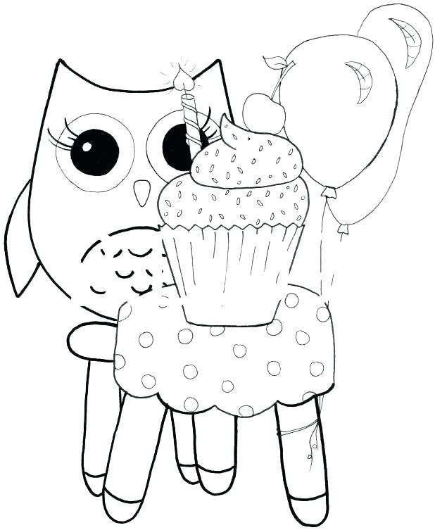 618x753 Baby Owl Coloring Pages To Print Amazing Cute In Free Book