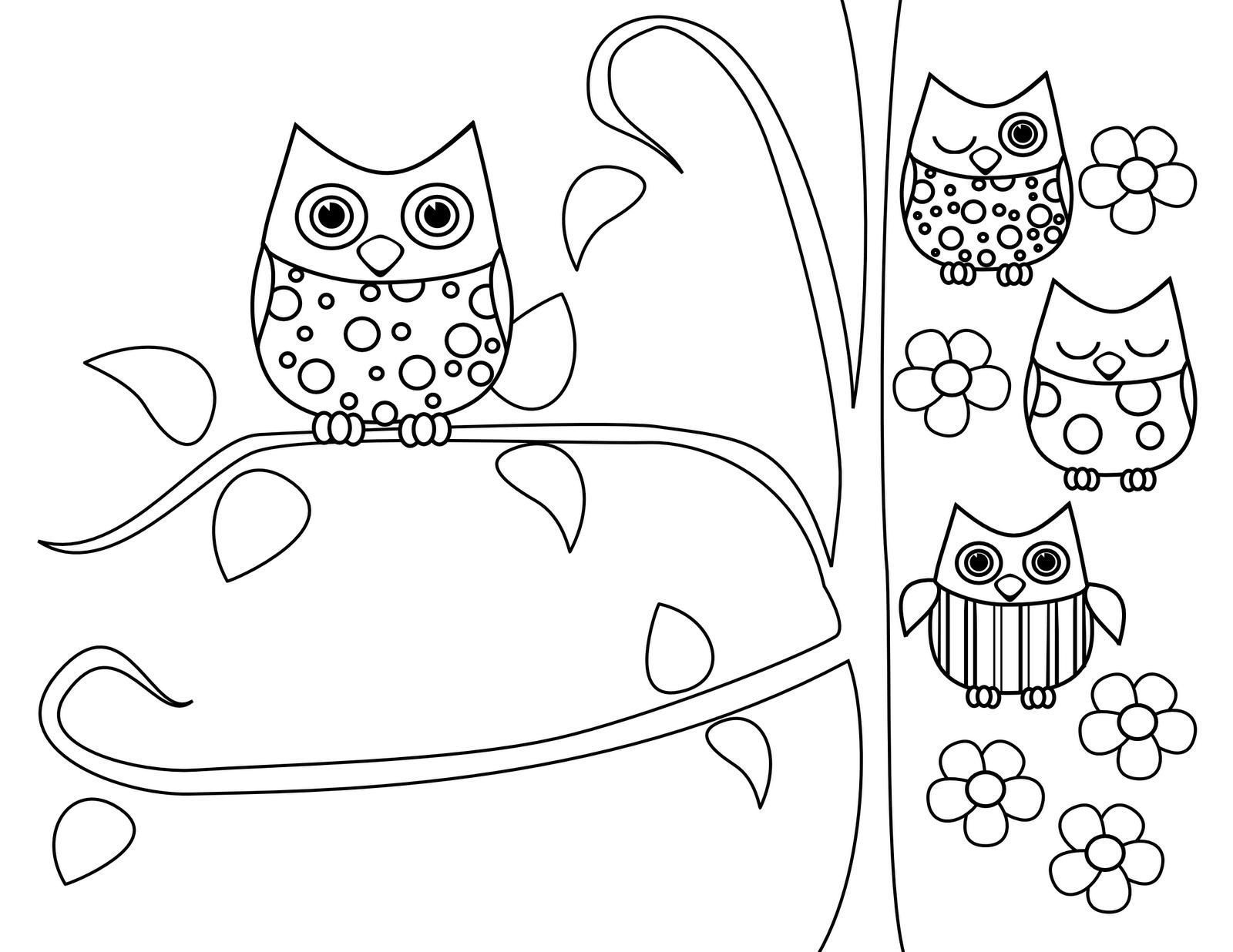 1600x1236 Baby Owls Coloring Sheets Coloring Sheets