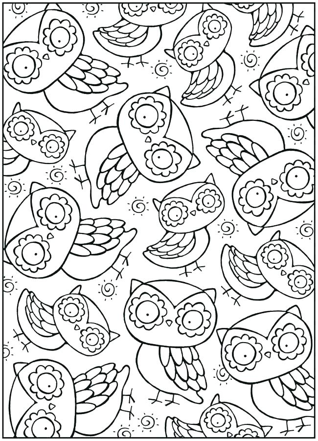 650x901 Cartoon Baby Owl Coloring Pages Cute Page Appealing For Your Site