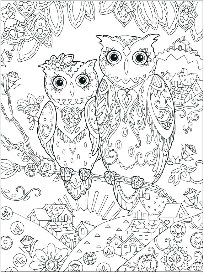 650x872 Coloring Page Of An Owl Baby Owl Coloring Page Free Printable