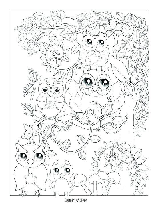 553x720 Coloring Pages Of Owls Coloring Page Owl Baby Owl Coloring Page