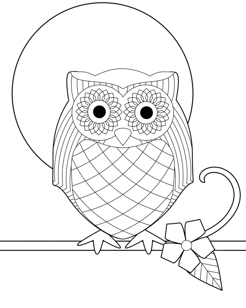 819x1024 Free Printable Owl Coloring Pages For Kids