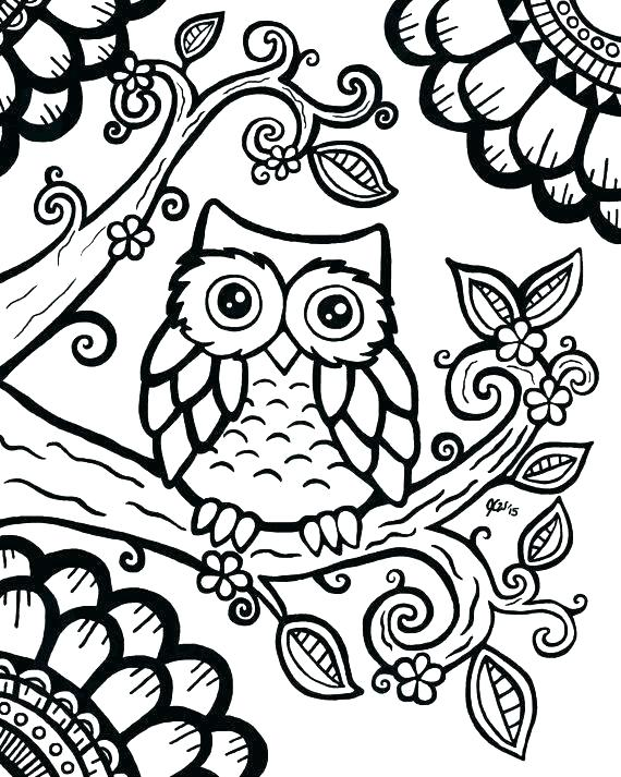 570x713 Owl Coloring Images Baby Owl Coloring Pages For Adults Best Ideas